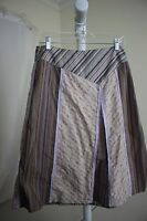 J. Jill 100% Cotton Multi-Colored Floral Below Knee A-Line Skirt Size - 8