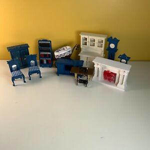 Vintage Bundle Dolls House Wooden Furniture & Accessories Job Lot Living Room