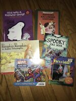Lot Of 6 Childrens Books Weekly Reader Scholastic Gus Ghost Pumpkin Spider-Man