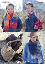 Sirdar pattern 9595 Indie Super Chunky Women's & Girl's Scarves and Bags