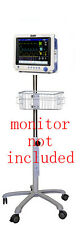 Rolling Roll Stand for Midmark Cardell Touch veterinary  monitor   (small wheel)