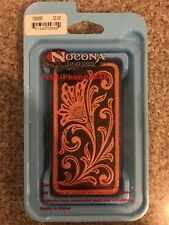IPhone 4/4S Cover Tooled LEATHER Protective Case Hardback Cowboy Western