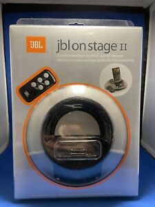 JBL On Stage II iPod Docking Station Speaker with Remote - White - Music 30 pin