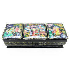 Russian Winter - lacquer box fairy tales lovers style palekh Hand painted #138
