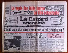 Le Canard Enchaîné 11/02/1987; La vente des télés tourne au film-catastrophe