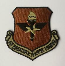 """USAF Patch AIR EDUCATION AND TRAINING COMMAND, OCP COLORS, 3""""X3"""", HOOK SIDE BACK"""