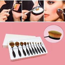 10x Pinceaux Brosse Dents Forme Maquillage Teint Poudre Oval Crème Brush Cadeau