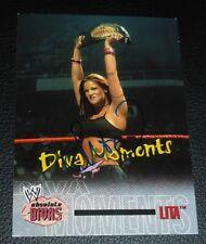Lita Signed 2002 WWE Fleer Absolute Divas Card #69 Autograph Diva Moments Champ