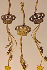 12 x Krone Gold / Silber aus Metall mit Perlen