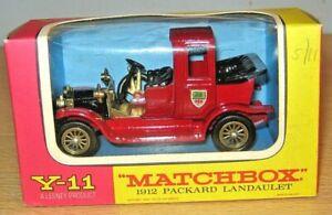 Matchbox MOY Y-11 1912 PACKARD LANDAULET - VGC - Models of Yesteryear
