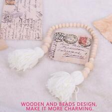 Natural Wood Beads Tassel String Children's Room Wooden Hanging Nursery Decorati