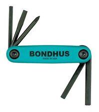 Bondhus 12540 GorillaGrip Fold-up Utility Set, Phillips, Slotted, and Hex