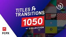 1050 Final Cut Pro X Titles  and Transitions Pack V.5 Digital Download