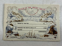 Vintage US Naval Institute Realm Of The Arctic Circle Unused Commemorative Card