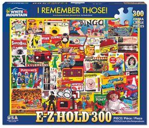 White Mountain 300 Extra Large Piece Jigsaw Puzzle - I Remember Those