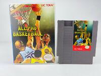 All-Pro Basketball NES Nintendo Entertainment System, 1989 W/Custom Plastic Case