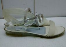 Chinese Laundry Clear Transparent Plastic Slingback Sandal Women's Shoes 9.5M 41