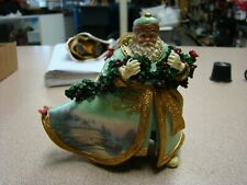 """Thomas Kinkade""~ Old World Santa Ornament~""Bringing Home The Tree""~Ashton Drake"