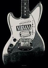 Nirvana - Guitar - Fabric Poster - 30 x 40 Wall Hanging - Cobain 51963