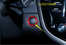 Red Car Engine Start Stop Button Sticker Cover Set decor For Toyota Camry 2018