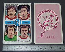 TOMASZEWSKI ZMUDA TERLECKI POLSKA AGEDUCATIFS FOOTBALL ARGENTINA 78 1978 PANINI