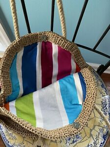 Hand Knitted Paper Rope Crochet Bag, Straw Bag, Tote, Bucket