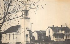 D53/ Wilton Wisconsin Wi Postcard c1940s First Church Building built 1887