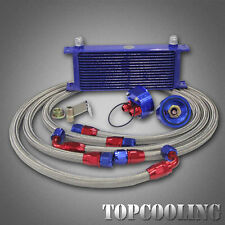 15 Row AN10 Transmission Oil Cooler + 3/4*16 M20 Filter Relocation Kits