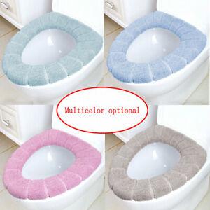 Cover Seat Bathroom Cushion Closestool Toilet Soft Pad Washable Warmer Cushion