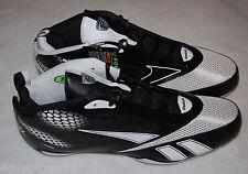 Mens Football Cleats REEBOK U Form Mid M4 BLACK WHITE Size 12