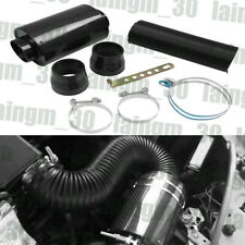 Black 3 Car Filter Box Title Carbon Fiber Induction Ram Cold Air Intake System Fits More Than One Vehicle