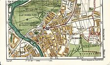 London W4 SW14 Richmond 1923 orig. city map (part) Chiswick Barnes Old Deer Park