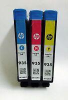 HP Genuine 935 (C, M, Y) Set of 3 Ink Cartridges in OEM Packaging
