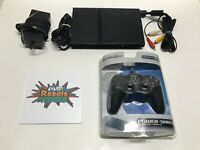 Sony PlayStation 2 PS2 Console SCPH-90001 Slim Bundle W/ Cords & 1 Controller