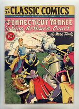 Classic Comics #24 HRN 23 (Original) FN Yankee in King Arthur's Court by Twain