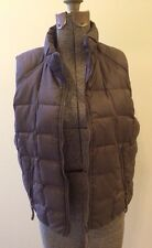 Girls Chocolate Brown Ugg Down Vest with Leather details size 14