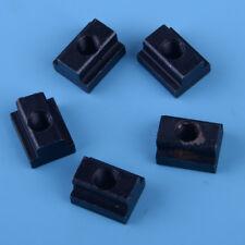 Neu 5x Schwarz Nutenstein Nut M8 Gewinde T-Nuten Stehlen Profil