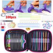 100pcs Aluminium Crochet Hook Set DIY Yarn Knitting Needles Sewing Tools