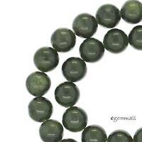 "15.7/"" Natural Gray Moonstone Round Beads 6.6-7mm #74169"