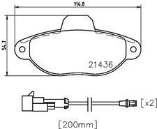 Mintex Front Brake Pad Set MDB3317  - BRAND NEW - GENUINE - 5 YEAR WARRANTY