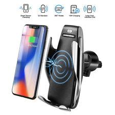 Support Qi chargeur téléphone de voiture sans fil iPhone xr Samsung serrage auto