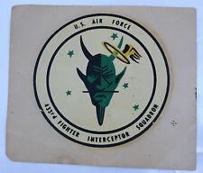 Vintage Vietnam Sticker 433 Tactical Fighter Jet Squadron Satan's Angels Pilot