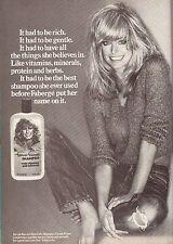 1979 Farrah Fawcett Faberge Shampoo Charlie's Angels Vintage  Print Ad 1970s