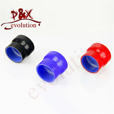 """2.25"""" to 2.5"""" Straight Reducer Silicone Turbo Hose Coupler 57mm-64mm Blue"""