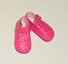 47mm Dark Pink T-Strap Doll Shoes for Kish Bitty Bethany