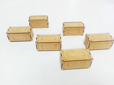 Cargo Crates x 6 for any 28mm Miniature games MDF Terrain