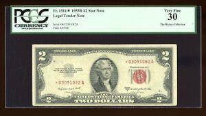 DBR 1953B $2 Legal STAR Fr. 1511* PCGS 30 Serial *03091082A