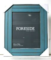 1 Count Foreside Home Garden 8 In X 10 In Blue Heartland Wood Photo Frame