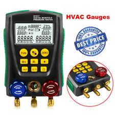 Refrigeration Digital Manifold Pressure Temperature Tester HVAC Vacuum Leakage