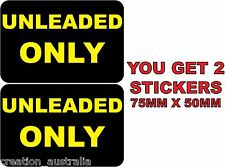 Two Unleaded Only Stickers Sign Decal Public Safety WH&S OHS